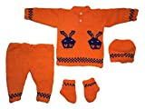 #9: Handmade Woolen Sweater, Pant, Cap and socks for baby(0-9 months)
