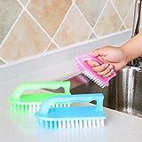 Japanische handshake Kunststoff Bürste zu reinigen Pinsel, Bürste Bürste Badewanne Waschbecken scheuern Fell Bürste schuh Pinsel mit der Reinigungsbürste.