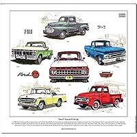 Ford F-Series Pick-up Stampa da Golden Era–-- F100camion American Classic