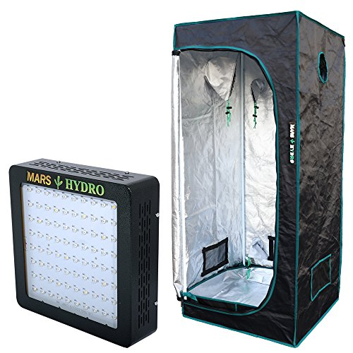 marshydro-grow-tent-70x70x160cm-and-mars-ii-400-led-grow-light-setup-complete-kit-for-hydroponics-in