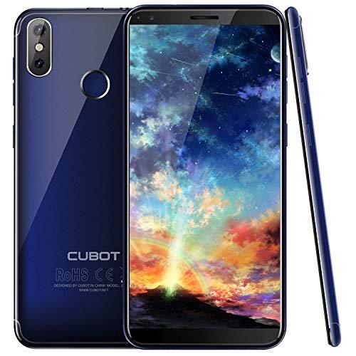 Cubot J3Pro 4G Smartphone ohne Vertrag Android Go Ultra dünn Dual SIM 5.5 Zoll 18: 9 Voll Bildschirm 16GB + 1GB, 13MP+2MP, Quad-Core Prozessor, 1.5 GHz Fingerabdruck Freischalten Blau