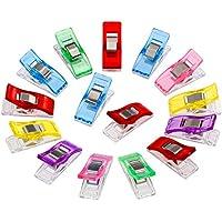 Anpro 60 Stück Klammer 27 x 10 mm Nähen Zubehöre Nähzubehör Stoffklammern 6 Farben für Nähen, Quilting Clips, Häkeln