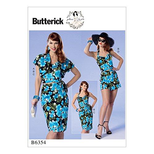 Butterick Patterns 6354E5Misses/Petite Bolero/Bustier/Abnehmbarer Schulterriemen und Gürtel Schnittmuster, Größen 14-22 (Trägerlosen Kleid Nähen Muster)