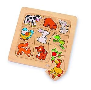 Gollnest & Kiesel - Puzzle de madera de 9 piezas (Handelshaus Gollnest & Kiesel 56880) Importado