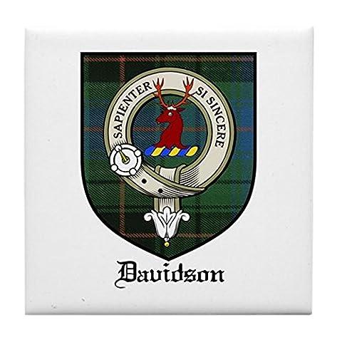 CafePress–Davidson Clan Crest Tartan–Tile Untersetzer, Drink Untersetzer, Untersetzer, Klein