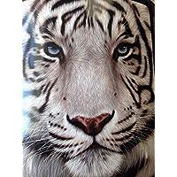YISUMEI White Face Tiger Fleece Throw Blanket