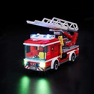 BRIKSMAX Kit di Illuminazione a LED per Lego City Pompieri Autopompa dei Vigili del Fuoco, Compatibile con Il Modello… LEGO City LEGO