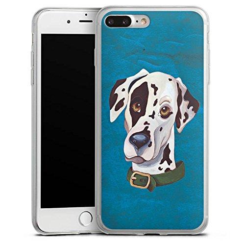 Apple iPhone 8 Plus Slim Case Silikon Hülle Schutzhülle Dalmatiner Hund Dog Silikon Slim Case transparent