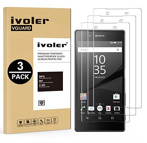 iVoler [3 Unidades] Protector de Pantalla para Sony Xperia Z5, Cristal Vidrio Templado Premium