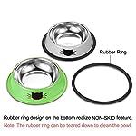 Comsmart Cat Bowl, Anti-slip Cat Food Bowl/Cat Feeding Bowl/Cat Water Bowl, Multi-purpose Double Pet Feeding Bowl (White… 11