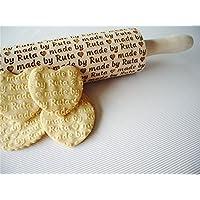 Personalisierte Nudelholz Teigrolle für hausgemachtes Gebäck. Teigroller mit Namen