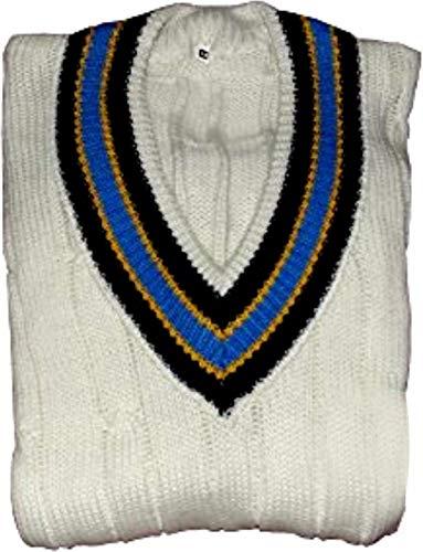 3M CW Herren Cricket-Pullover Team Wear Active Sports Wolle Pullover V-Ausschnitt Lang/Full Sleeve Pullover - 52
