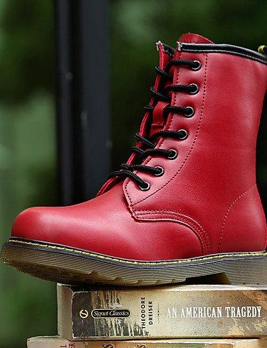 ShangYi Mode Frauen Schuhe Damen Stiefel Frühjahr / Sommer / Winter / Kletterpflanzen Springerstiefel Leder Outdoor / Büro & Karriere / Casual Braun