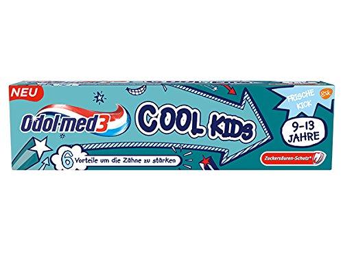 Odol-med 3 Kinder Zahncreme/Zahnpasta COOL KIDS (75 ml) FÜR KINDER VON 9-13 JAHRE