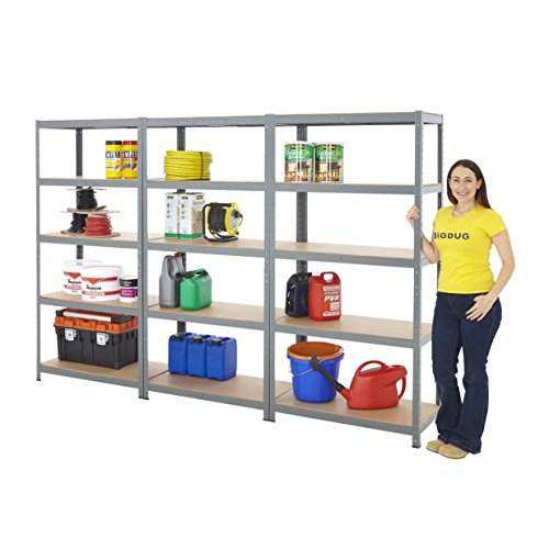 garage-shelving-storage-steel-shelf-bays-175kg-udl-5-levels-racking-with-optional-boxes-3-x-1800h-x-
