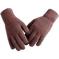 Mackur Winter Handschuhe Gestrickte Baumwolle Handschuhe Herren Handschuhe Warme Handschuhe Winterhandschuhe Sehr Warm im Kalten Winter 1 Paar (Braun)
