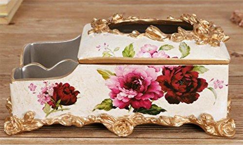 scatola europea del tessuto stile resina intagliato rosa vita creativa della decorazione della stanza dell