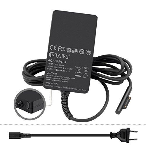 15V 4A Laptop Ladegerät Notebook AC Adapter Netzteil für Microsoft Surface Book 60W