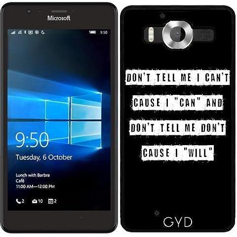 SilikonHülle für Microsoft Lumia 950 - Erzählen Sie Mir Nicht
