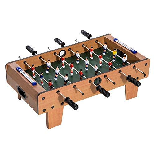 Homcom Table Baby-Foot pour Enfants à partir de 3 Ans 2 Ballons 18 Joueurs 69 x 37 x 24 cm
