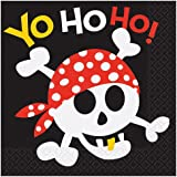Pirate Party Paper Napkins, Pack of 16