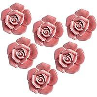 Yazer 6pcs rosa in ceramica rosa manopole
