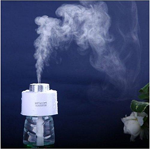 ragbar mini-Luftbefeuchter Wasser Flasche Kappen für Home Office, ABS-Kunststoff weiß, 75x 75x 60mm/7,4x 7,4x 5,8cm (Filter-wasser-flasche Mit Kappe)
