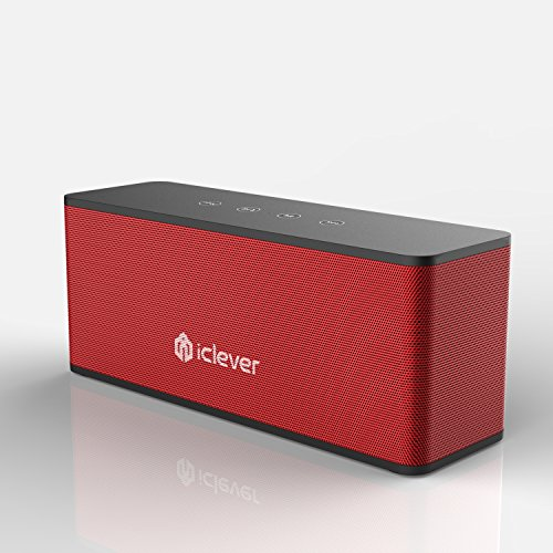 iClever IC de bts08 wirless Stereo Speaker Built with 2 x 10 W color black & red niveles --- a