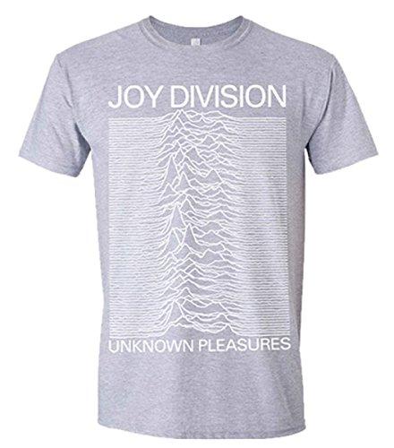 Joy Division Unknown Pleasures (Grigio) TS Schwarz L