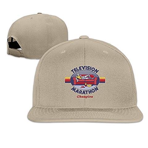 YhsukRuny Custom Television Marathon Champion Adjustable Baseball Hat/Cap Natural
