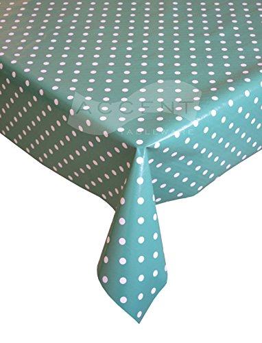 Polka Dot Blaugrün PVC-Tischdecke, einfach zu reinigen Polkadot Tischdecke, aus Vinyl, abwischbar, Tischdecken Küche Dinner Party Geschirr, Punkten Design Tisch Cover, blaugrün, 137cm x 180cm Rot Polka Dot Tischdecke