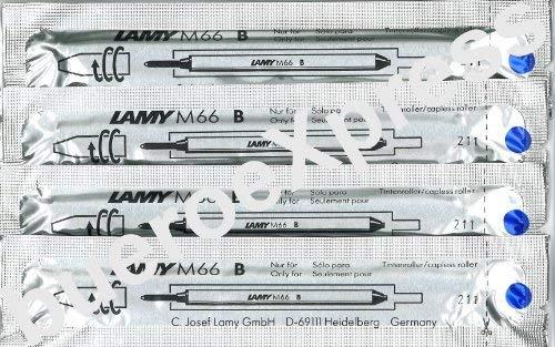 Lamy: Rollerball-Großraummine M66: Farbe: blau, Strichbreite: BREIT, 4er-Set