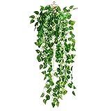 Nuolux artificiale falso Scindapsus leaves Greenery edera rampicante per arredamento per interni ed esterni (Scindapsus leaves)