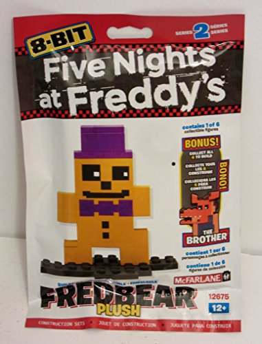 Five Nights at Freddy's 8-Bit Buildable Figure: Plush Fredbear