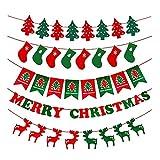 AYUTOY 5 Pacchetto (8pz / 3M) Bandiera Natale Striscione Ghirlanda Decorazione Natalizia Lettere Ghirlanda per la Decorazione della casa di Natale Decorazione Hang Bandiera Bandiera