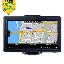 Car GPS, 7-inch Portable Navigation System for Cars, Lifetime Map Updates, Real Voice Turn-to-turn Alert Vehicle GPS Sat-Nav Navigator
