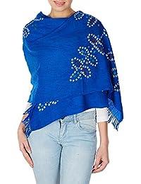 laine bleue accessoires faits à la main cravate de colorant de foulard des femmes a volé des cadeaux d'anniversaire pour ses 24x70 pouces