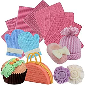 00b9ee99491db Musykrafties Weave Knitting Silicone Mould Texture Stamp Mat 8-in ...