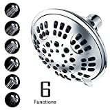 ALTON 2.5 GPM Pressure Shower Head Chrome Finish | Fixed Showerhead 6-Settings