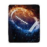 DOSHINE Coperta, Galaxy Space American Football Morbido Leggero scalda Coperte 127x 152,4cm per Divano Letto Sedia da Ufficio