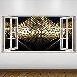 LagunaProject EXTRA GROßE Schwarz Paris Louvre Stadt 3D