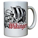 Vikingo barco-dragón Barco Casco Odin largo Guerrero Barco–Taza de café taza # 10892