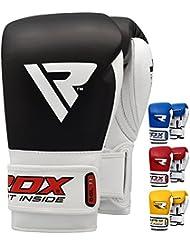 RDX Vacuno Cuero Guantes Boxeo Combate Saco Sparring Entrenamiento Mitones Muay Thai Kick Boxing