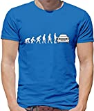 Evolution of Man - Ford Escort Fahrer - Herren T-Shirt - Royalblau - M