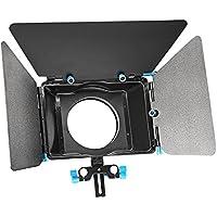 Neewer® Aleación de aluminio mate caja con anillo de Donut, riel 15mm Rod Rig, para Nikon Canon Sony Fujifilm olympus DSLR Cámara Videocámara DV/HDV/película haciendo sistema de vídeo Broadcast