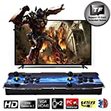 SeeKool 3D Pandora X Arcade Game Console, Joystick 2 Giocatori Arcade Console con 2200 Giochi Retro, 1920x1080 Full HD, Supporto esteso Scheda TF e Disco USB, per PC / Laptop / TV / PS4