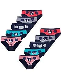 PiriModa Braguitas de algodón para niña - Material cómodo y Suave - con Diferentes Motivos - Disponibles en Tallas de 1 a 13 años - Pack de 10 Unidades