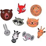50 botones de animales para scrapbooking, costura, decoración..