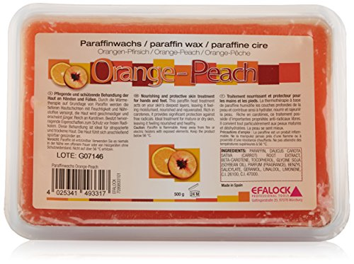 Efalock Paraffinwachs, orange-Peach, 1er Pack (1 x 0.5 kg)