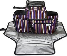 Pañal de lujo del cojín y del cochecito del organizador del almacenaje del kit extra,Estación de cambio portátil,Universal-púrpura